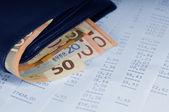 Valuta i plånboken — Stockfoto