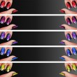 Manicure banners set - Stock Photo