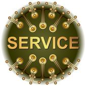 Button service online — Stock Photo