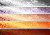 Banderas de código Qr — Vector de stock