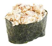 Asian food rolls, sushi and sashimi, gunkan etc — Stock Photo