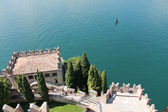 Castle Scaligeri in Malcesine , Italy — Stock Photo