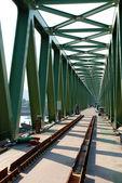 Old train Bridge under construction — Stock Photo