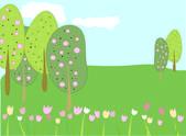 Spring — Stockvektor