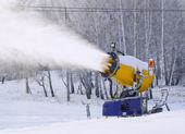 Working snowgun — Stock Photo