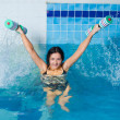 Aquaaerobic girl - Stock Photo