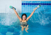 Aquaaerobic girl — Stockfoto