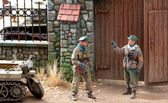 ドイツの将校とミニチュア — ストック写真