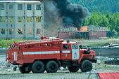 Russian fire truck — Stock Photo
