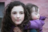 Portrait of beautiful young girls — Stock Photo