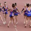 Girls perform on the opening ceremony — Stock Photo
