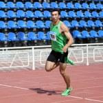 Oleksey Kasianov on Track — Stock Photo