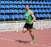 Oleksey Kasianov on Track — Foto de Stock