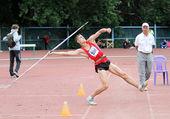 Chimeris sergei en el concurso de lanzamiento de jabalina — Foto de Stock