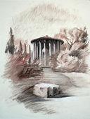 The Temple of Vesta in Rome, Italy — Stock Photo