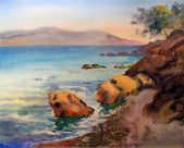 Watercolor painting of the Croatia — Stock Photo