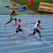 Relay race on the IAAF World Junior Championships on July 13, 2012 in Barcelona, Spain — Foto Stock