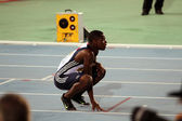 BARCELONA, SPAIN - JULY 13: David Bolarinwa after the 200 meters final on the IAAF World Junior Championships on July 13, 2012 in Barcelona, Spain. — Stock Photo