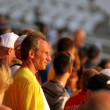 Fans on the IAAF World Junior Championships on July 13, 2012 in Barcelona, Spain. — Stock Photo