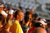 Fans on the IAAF World Junior Championships on July 13, 2012 in Barcelona, Spain. — Стоковое фото