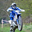 Stock Photo: Enduro wheelie