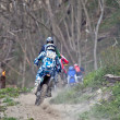 Stock Photo: Uphill enduro