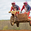 Dirt bike & sidecar - Stockfoto