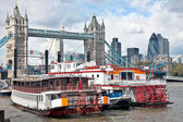 Thames paddle steamers — Stock Photo