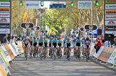 Oxbridge cycle race — Stock Photo