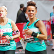 Female marathon runners — Stock Photo