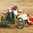 Stock Photo: Moto sidecar racing