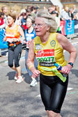 Aged marathon runner — Stock Photo