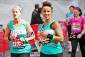 Female marathon runners — Stock Photo