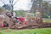 Moto-X crash — Stock Photo