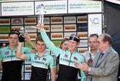 Cycling race winners — Stock Photo
