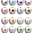 Foto Stock: Flagged balls euro cup 2012 teams