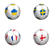 Ball flags euro cup 2012 group D — Stock Photo