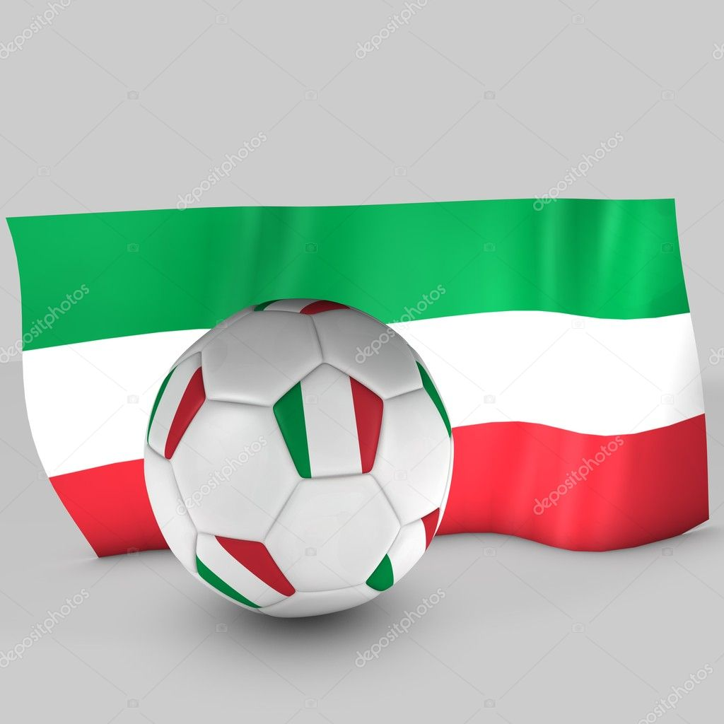 3d Italy flag ball on white background — Stock Photo #10931235