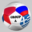 Ball flags euro cup 2012 group A - Foto Stock