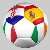 Ball flags euro cup 2012 group C — ストック写真