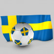 Sweden flag ball — Stock Photo