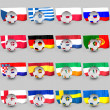 Flagged balls euro cup 2012 teams — Stock Photo