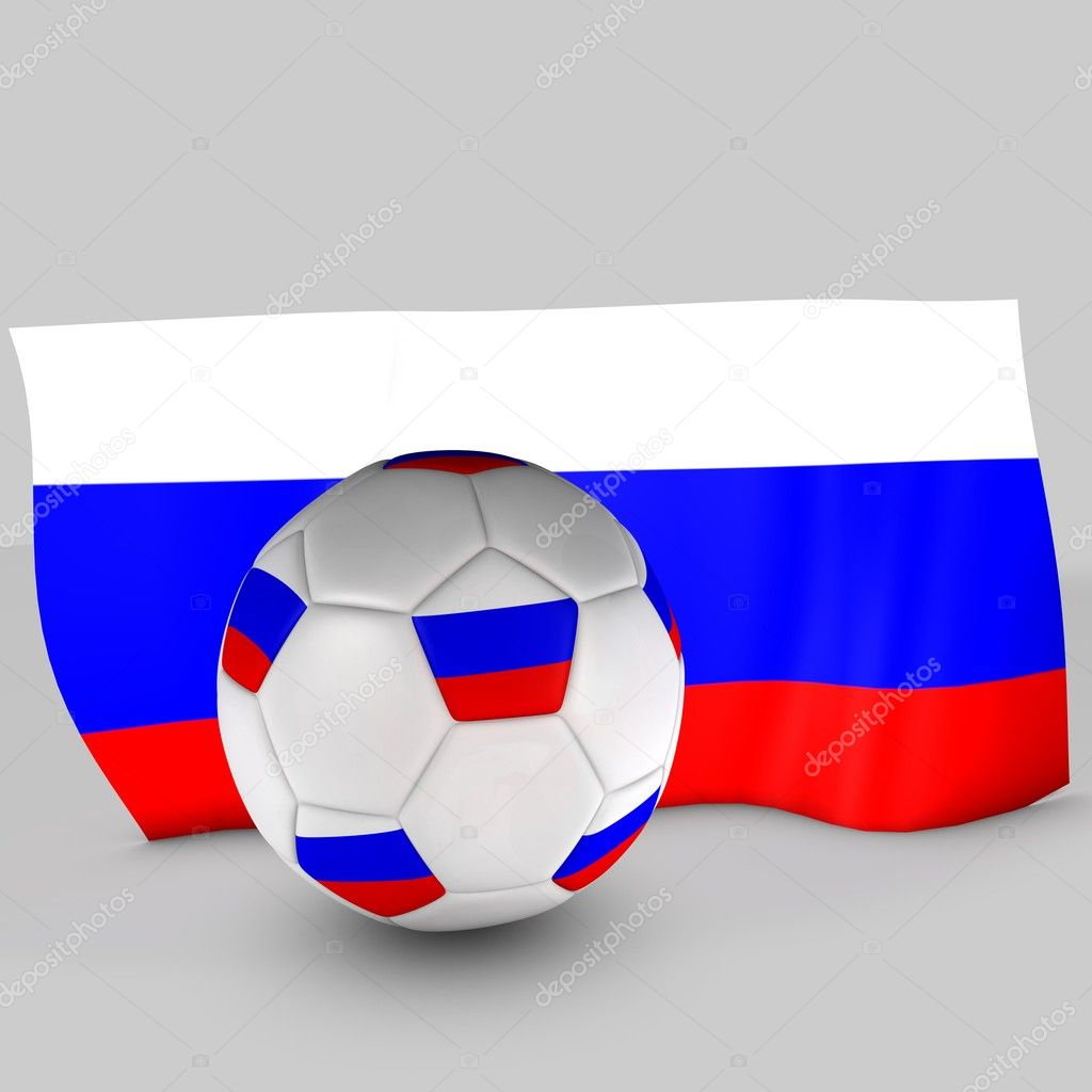 3d Russia flag ball on white background — Stock Photo #11003683