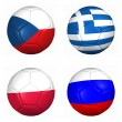 Royalty-Free Stock Photo: 3d ball flags euro cup 2012 group C