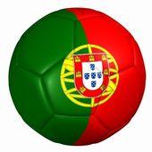Portugal flag ball — Stock Photo