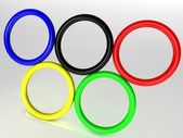 3d olympic rings — Stock Photo