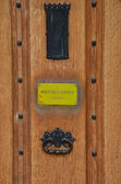Door to masters lodge with knocker — Stok fotoğraf