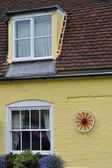 Detail of yellow cottage — Stock Photo