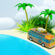 Tropical adventure by bus — Foto de Stock