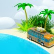 Foto de Stock  : Tropical adventure by bus